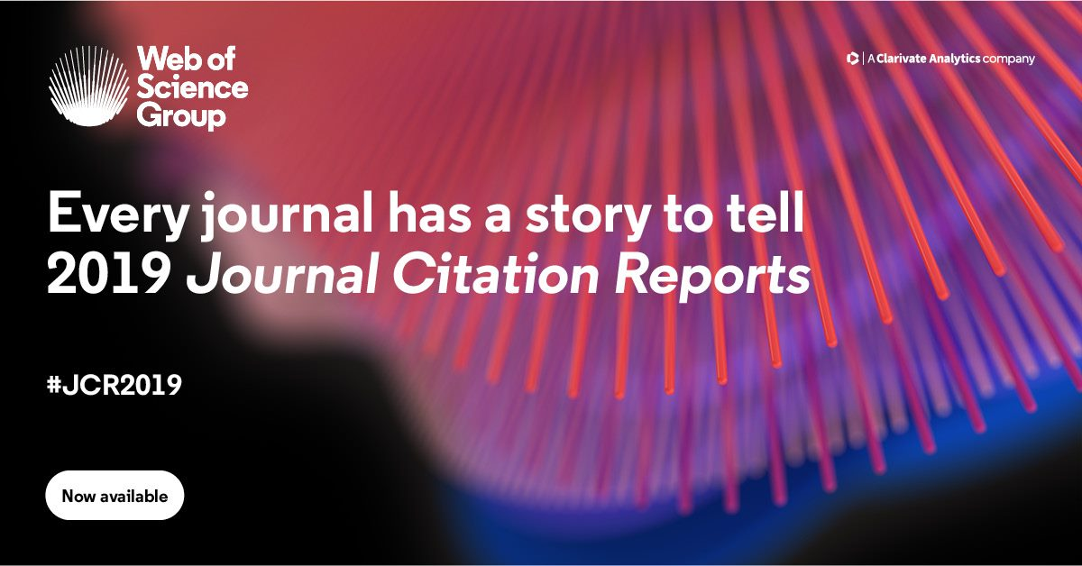 The 2019 Journal Citation Reports Jcr Is Here