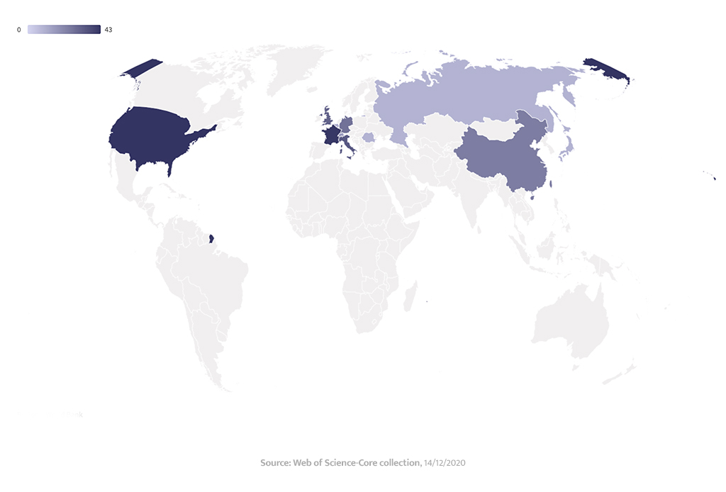 world map collaborations 2020