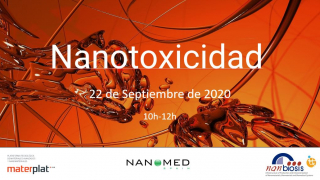 Nanotoxicity online conference by Materplat, Nanbiosis and Nanomed Spain on 22 Sept 2020